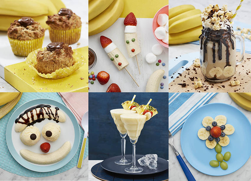 food photography for bananas social media campaign