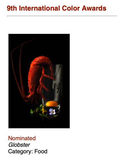 Sydney Food Photographer nominee colour awards