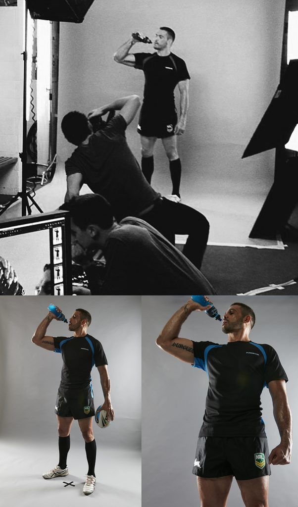 Portrait photography of Greg Inglis for Powerade Advertising